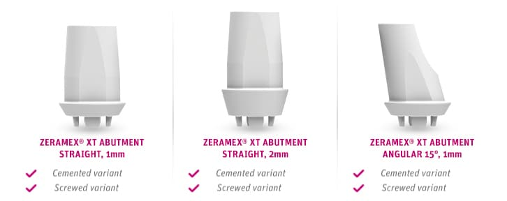 Zeramex Implant System Xt Prosthetics Abutments