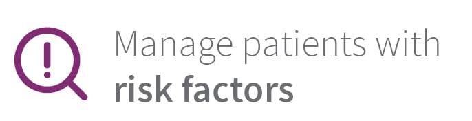 Manage patients with risk factor - - Osstell Beacon
