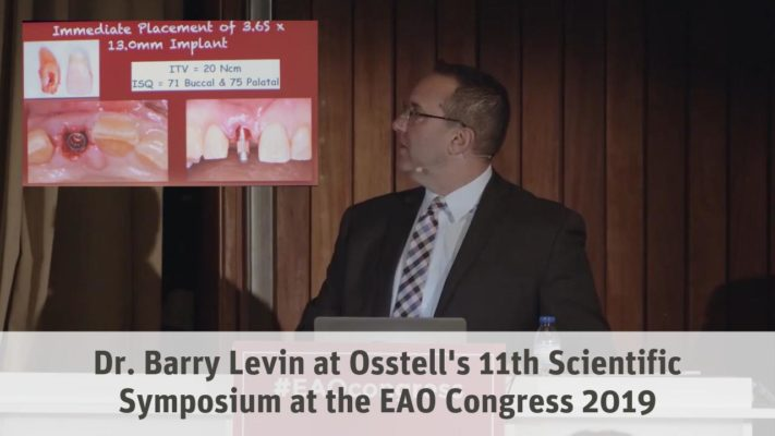 Dr. Barry Levin at Osstell's 11th Scientific Symposium