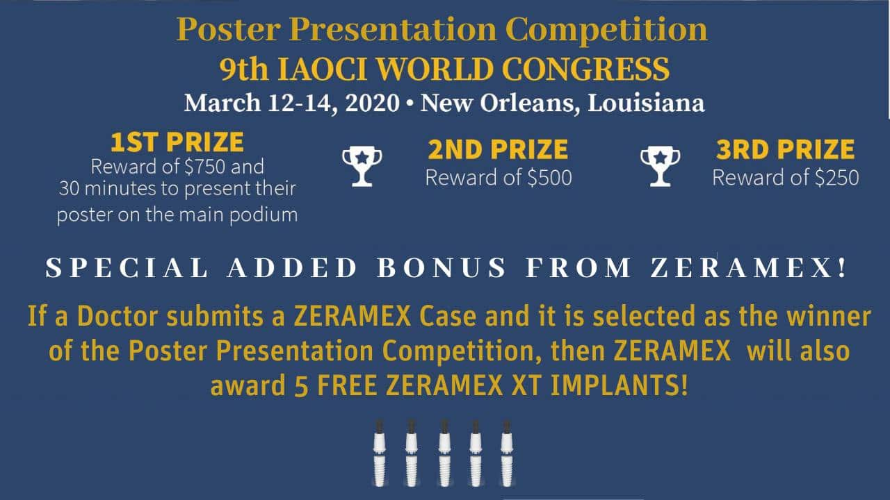 IAOCI Poster Presentation Competition PRIZE